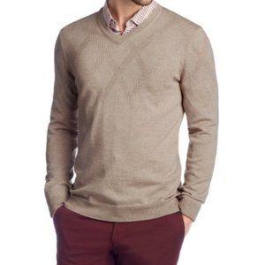 BOSS Hugo Boss Jacquard Argyle Wool V-Neck Sweater